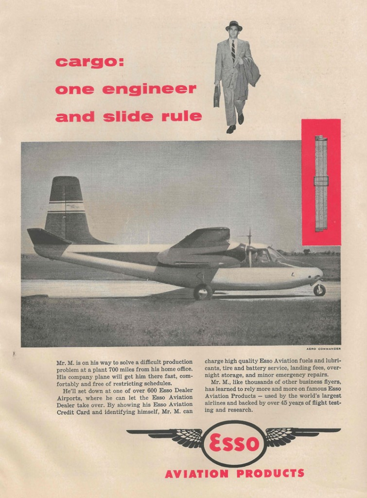 Aero Commander | Esso Aviation - 1955 Flying Magazine